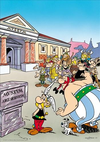 tekening Asterix en de Romeinen