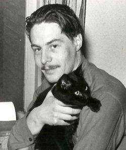 portret van Lucebert met kat