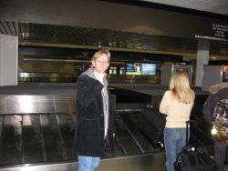 Wachten op de koffer