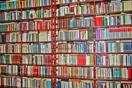 muur met boeken