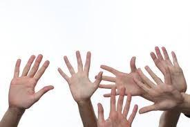 Zwaaiende handen